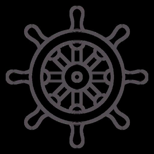 Ship's rudder stroke