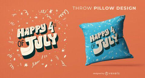 4 de julho design de travesseiro decorativo