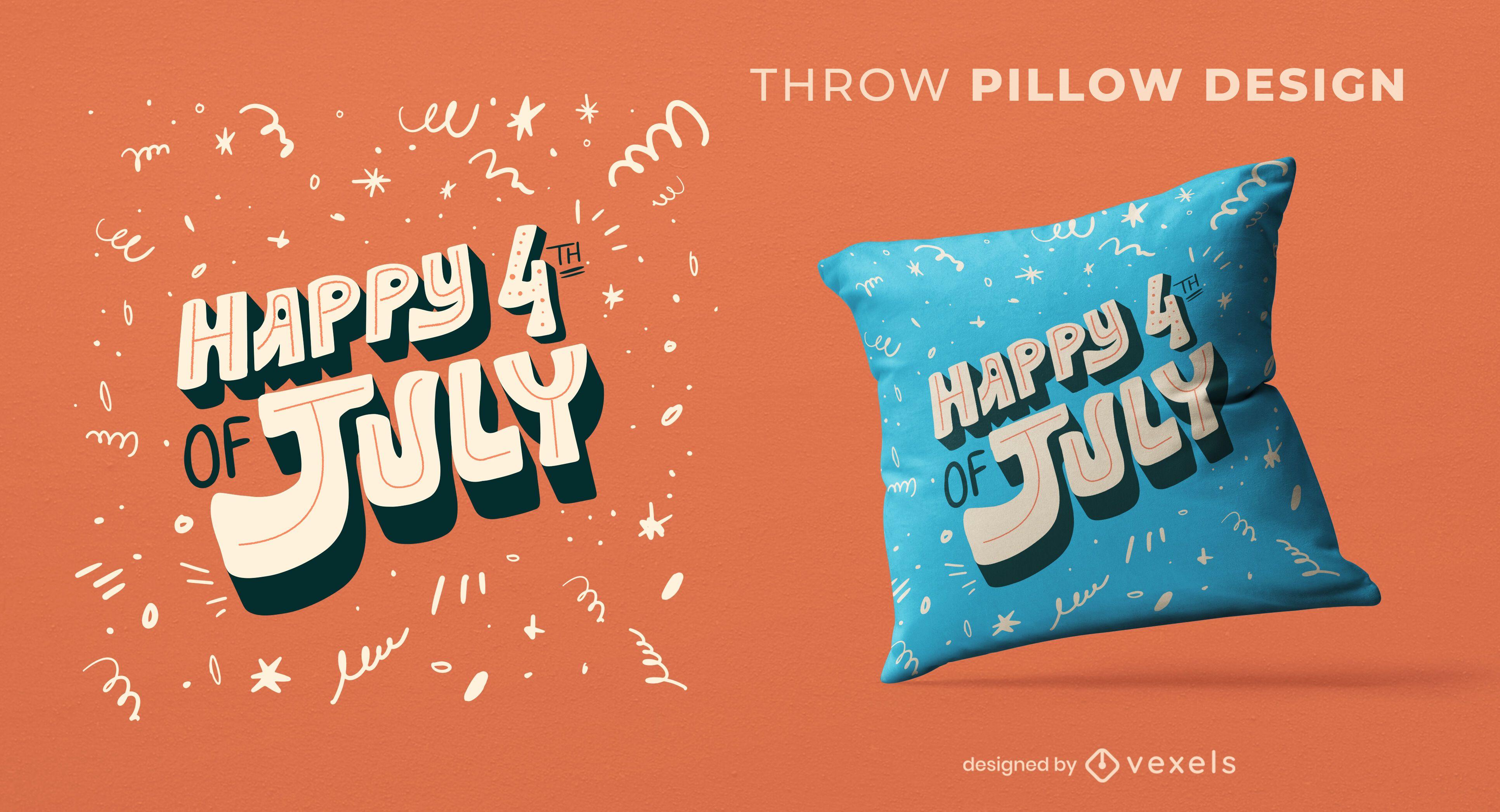 4 de julio diseño de almohada