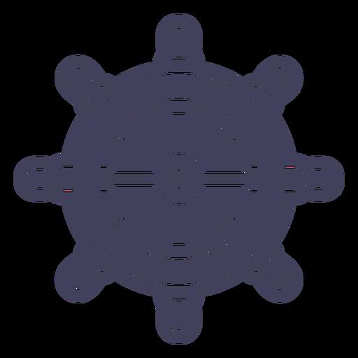 Blue ship rudder cut out