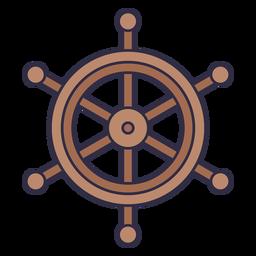 Ship wheel nautical element