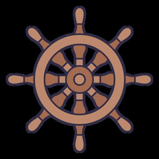 Ships wheel nautical element