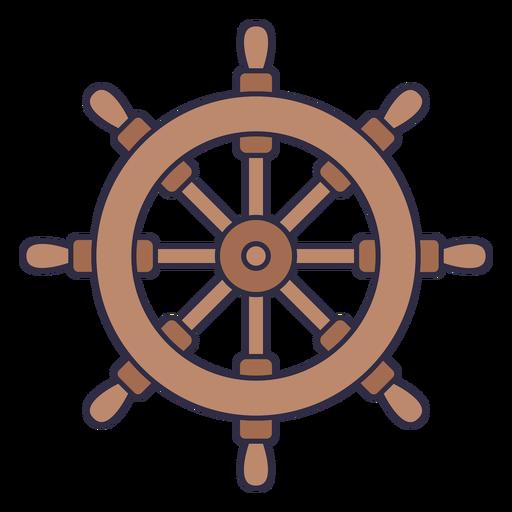 Classic ship rudder color stroke