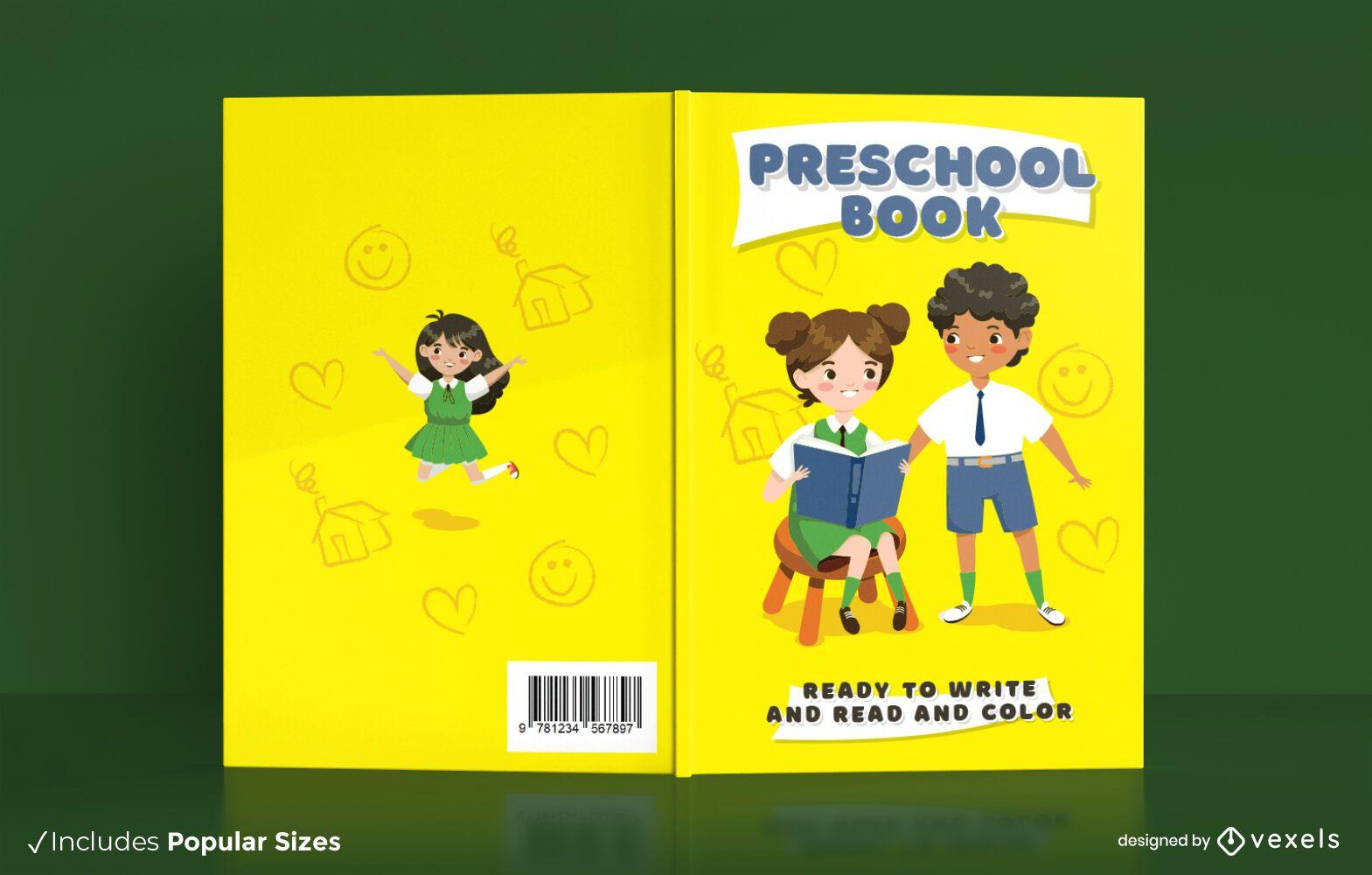 Design de capa de livro para educação pré-escolar