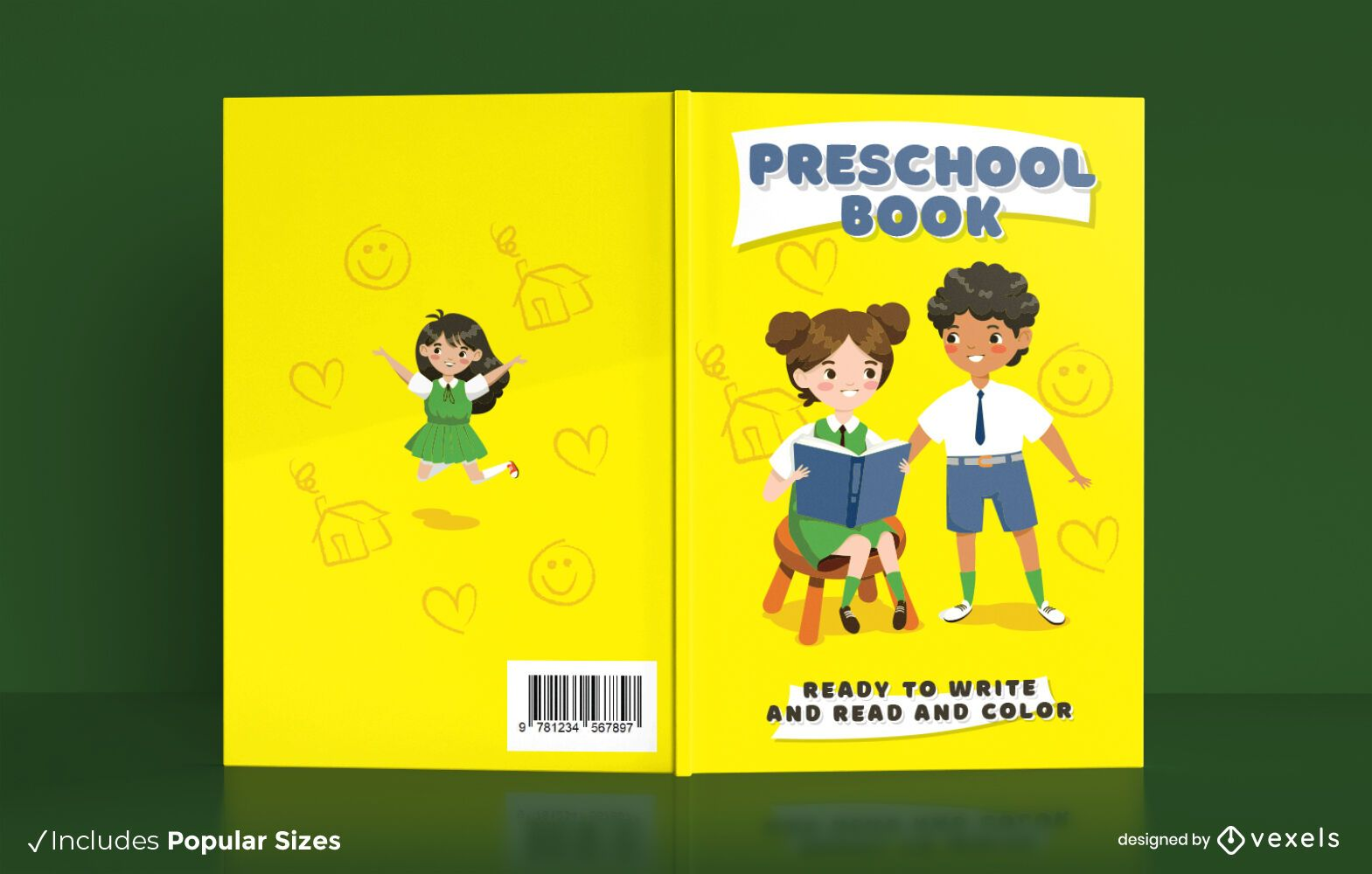 Preschool education book cover design