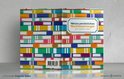 Diseño de portada de libro de reseñas de libros