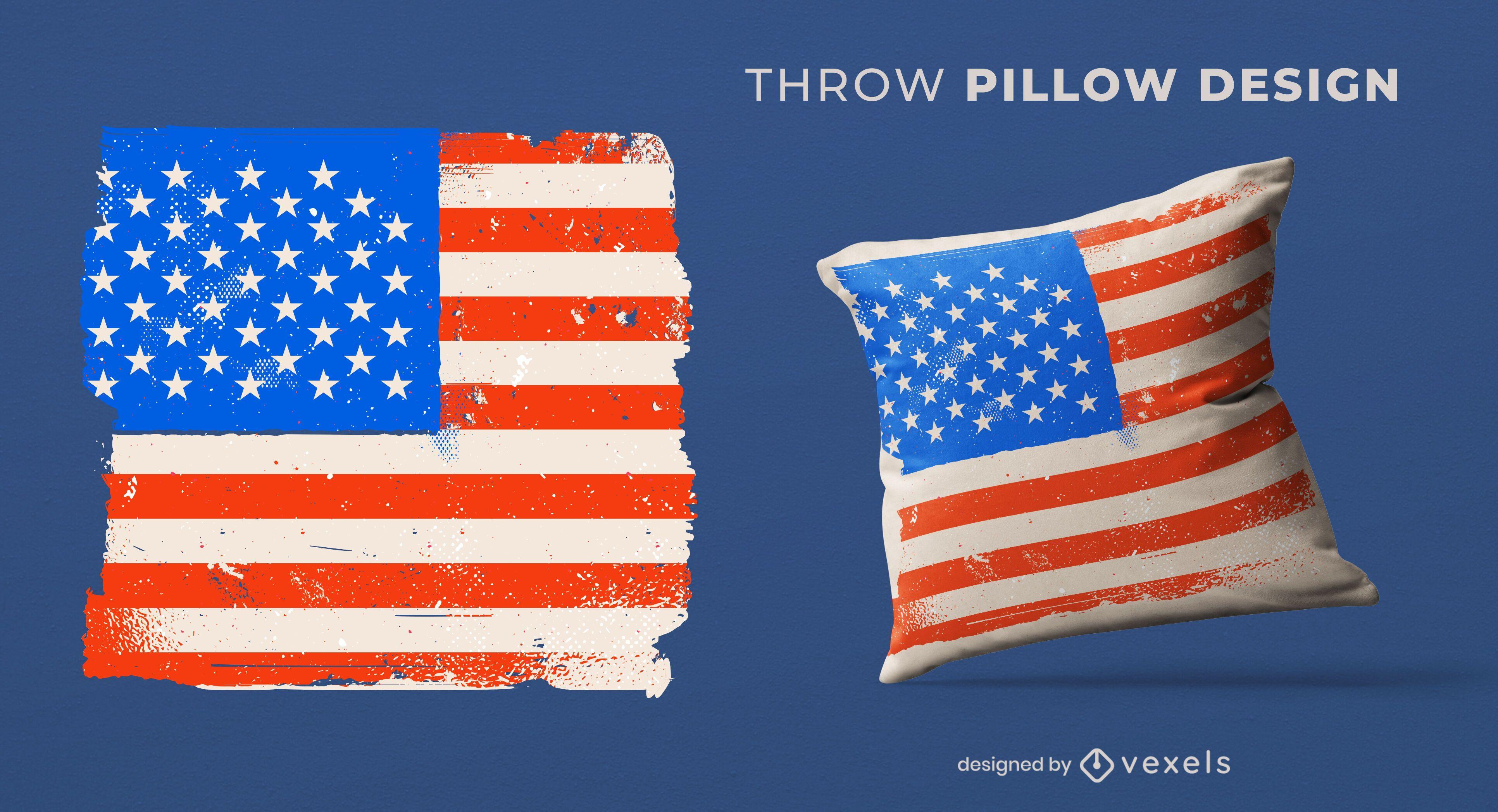 Diseño de almohada de tiro de estados unidos