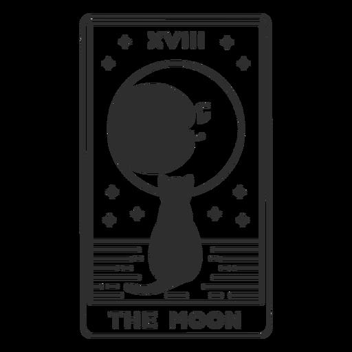Tarot card the moon stroke