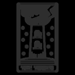 Tarot card the tower stroke