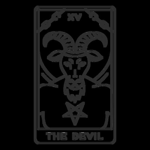 Tarot card the devil stroke