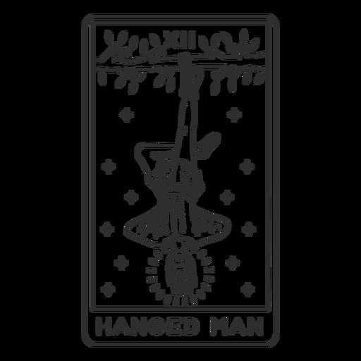 Tarot card hanged man stroke