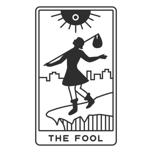 Tarot card the fool filled stroke