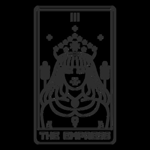 Tarot card the empress stroke