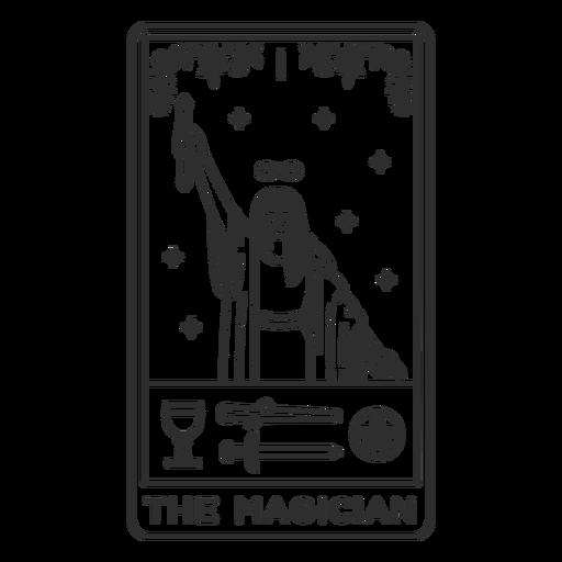 Tarot card the magician stroke