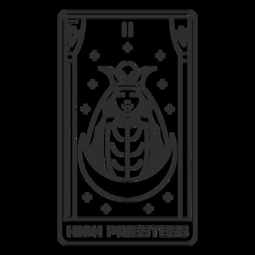 Tarot card high priestess filled stroke