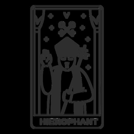 Tarot card hierophant filled stroke