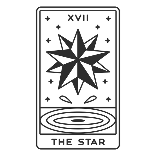 Tarot card the star filled stroke