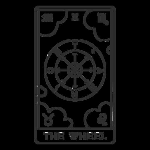 Tarot card the wheel stroke