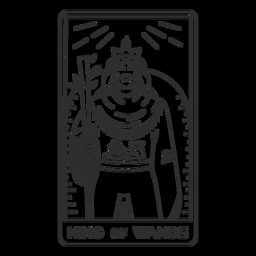 Tarot card king of wands stroke