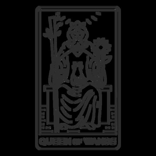 Tarot card queen of wands stroke