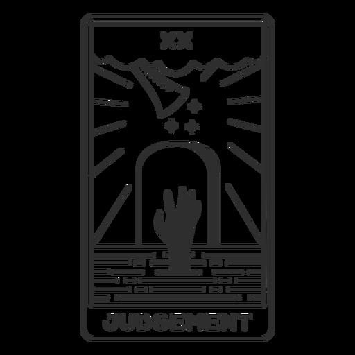 Tarot card judgement filled stroke