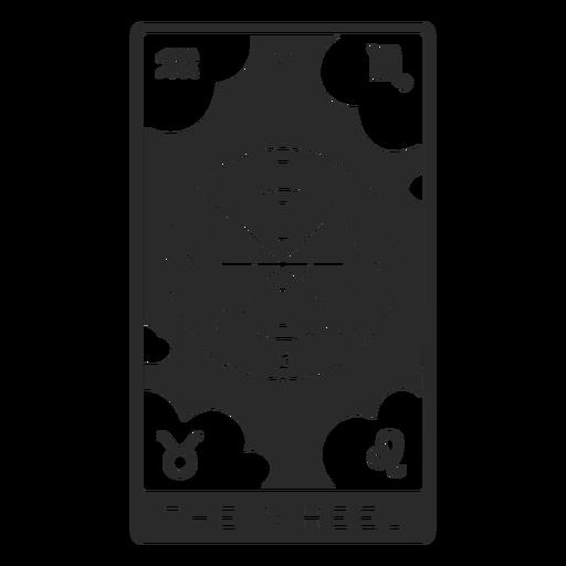 Tarot card the wheel filled stroke