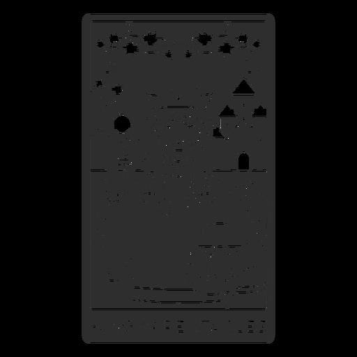 Tarot card king of pentacles cut out