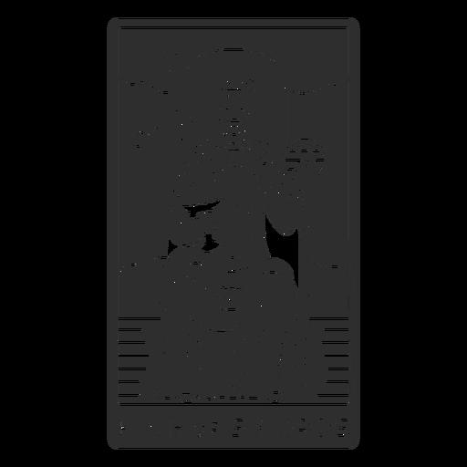 Tarot card king of swords cut out