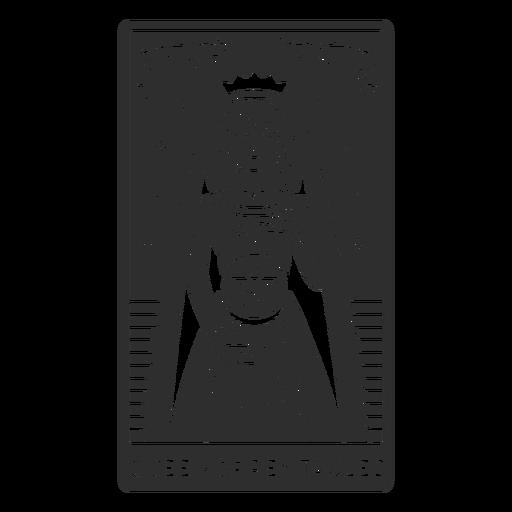 Tarot card queen of pentacles cut out