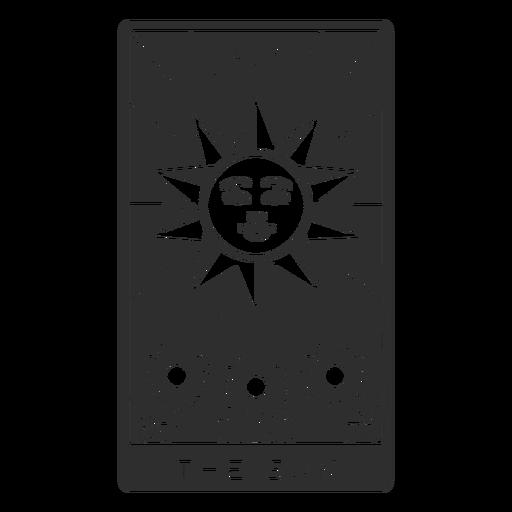 Tarot card the sun cut out