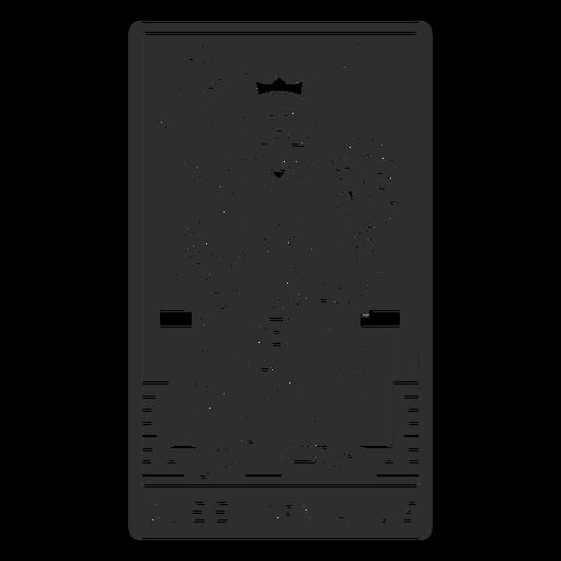 Tarot card queen of wands cut out
