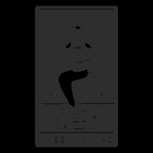 Tarot card queen of cups cut out