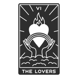 Tarot card the lovers cut out