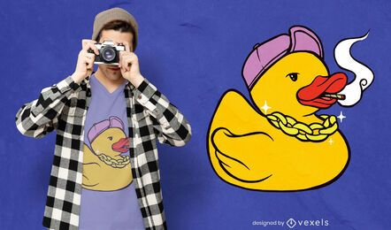 Stoner rubber duck t-shirt design