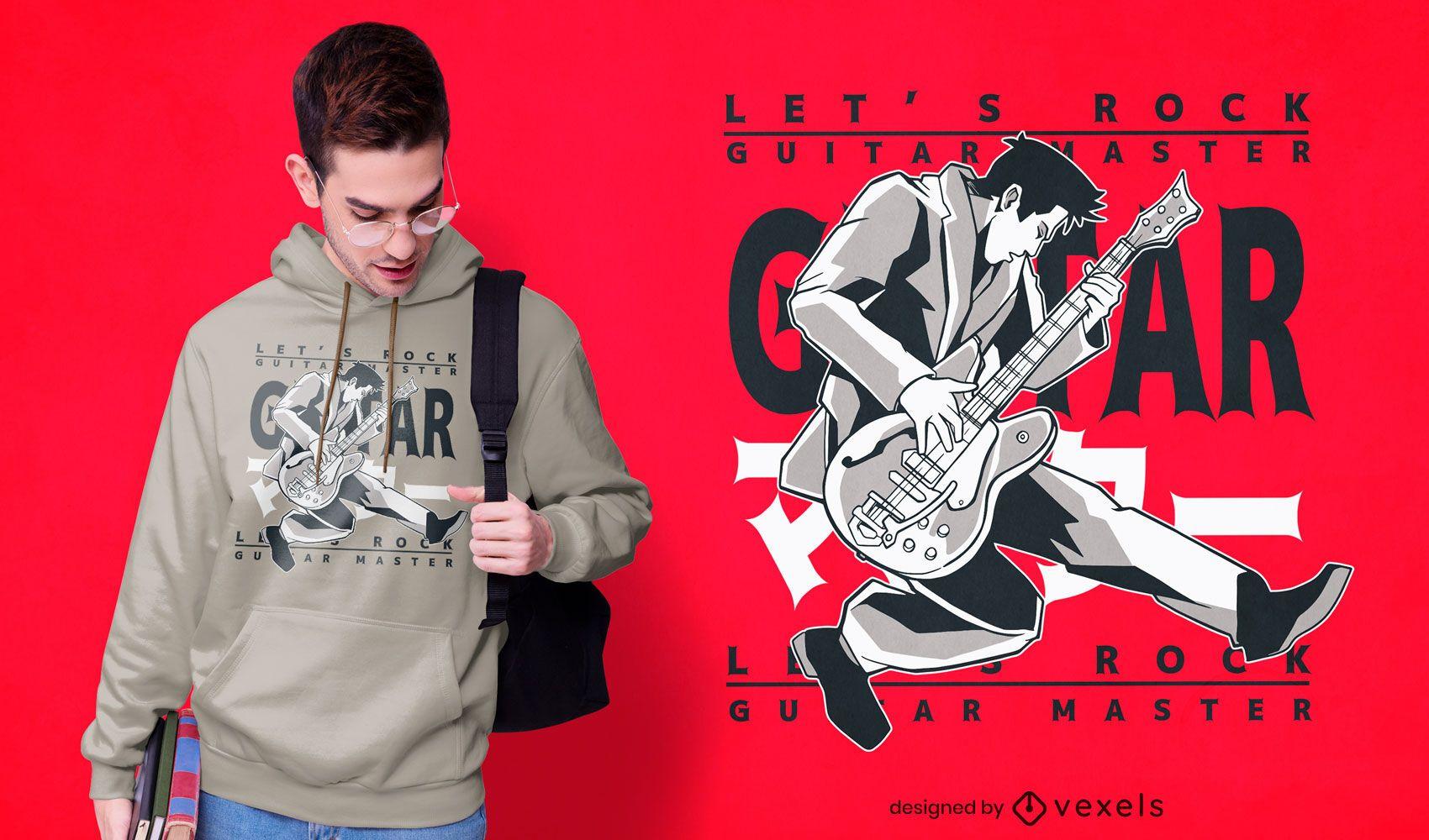 Guitar master Japanese t-shirt design