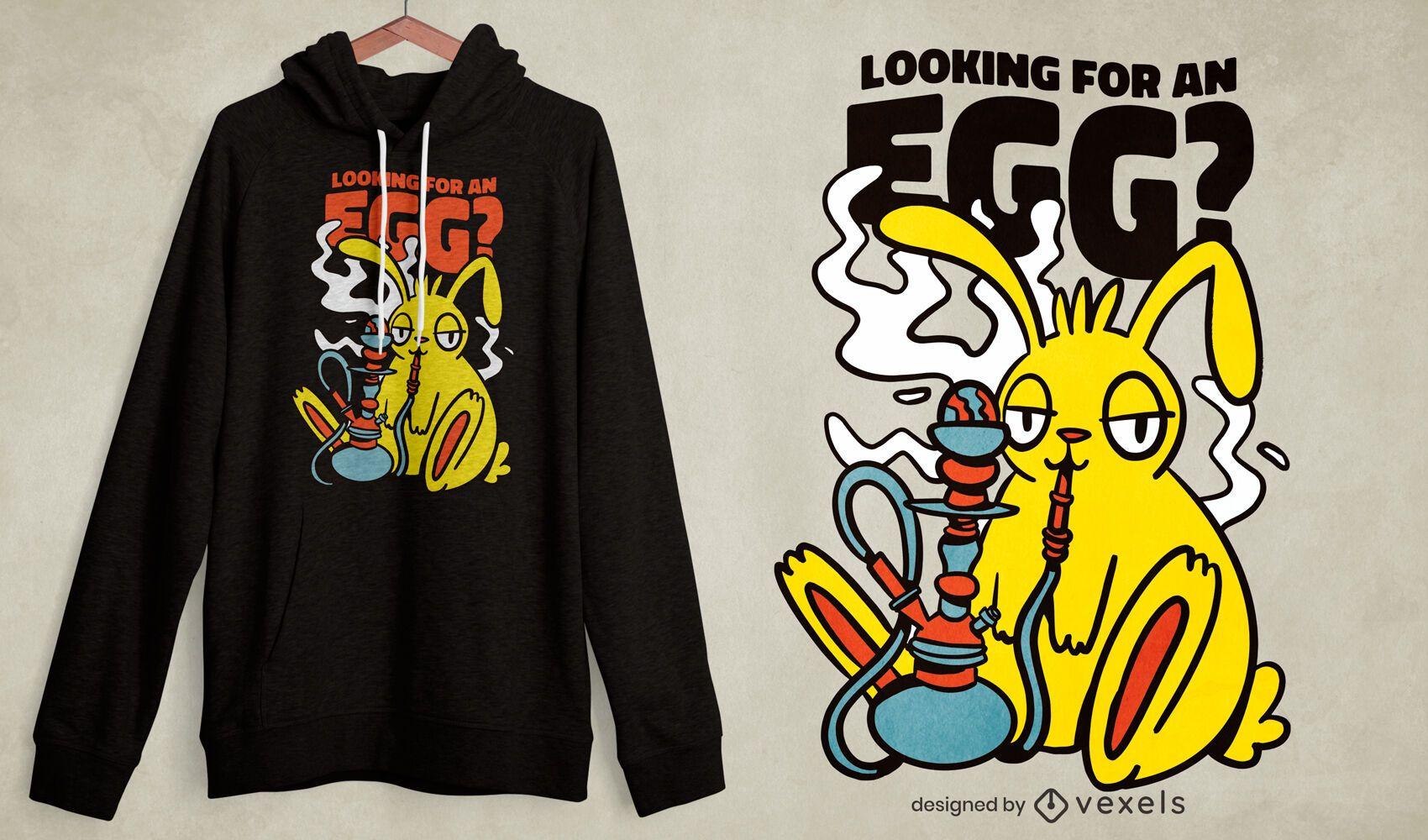 Easter bunny hookah t-shirt design