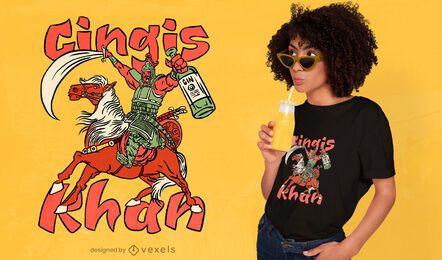 Genghis Khan funny pun t-shirt design