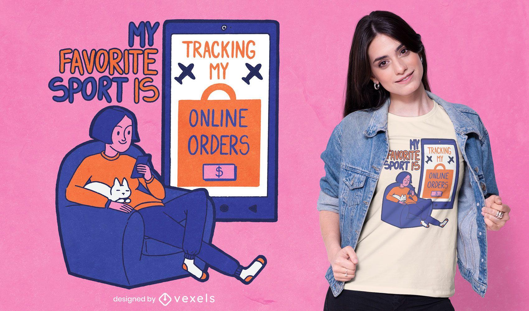Diseño de camiseta de cita divertida de compras en línea