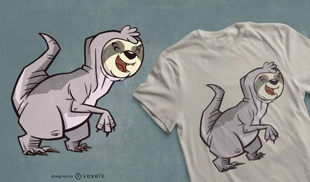 Sloth t-rex hybrid t-shirt design