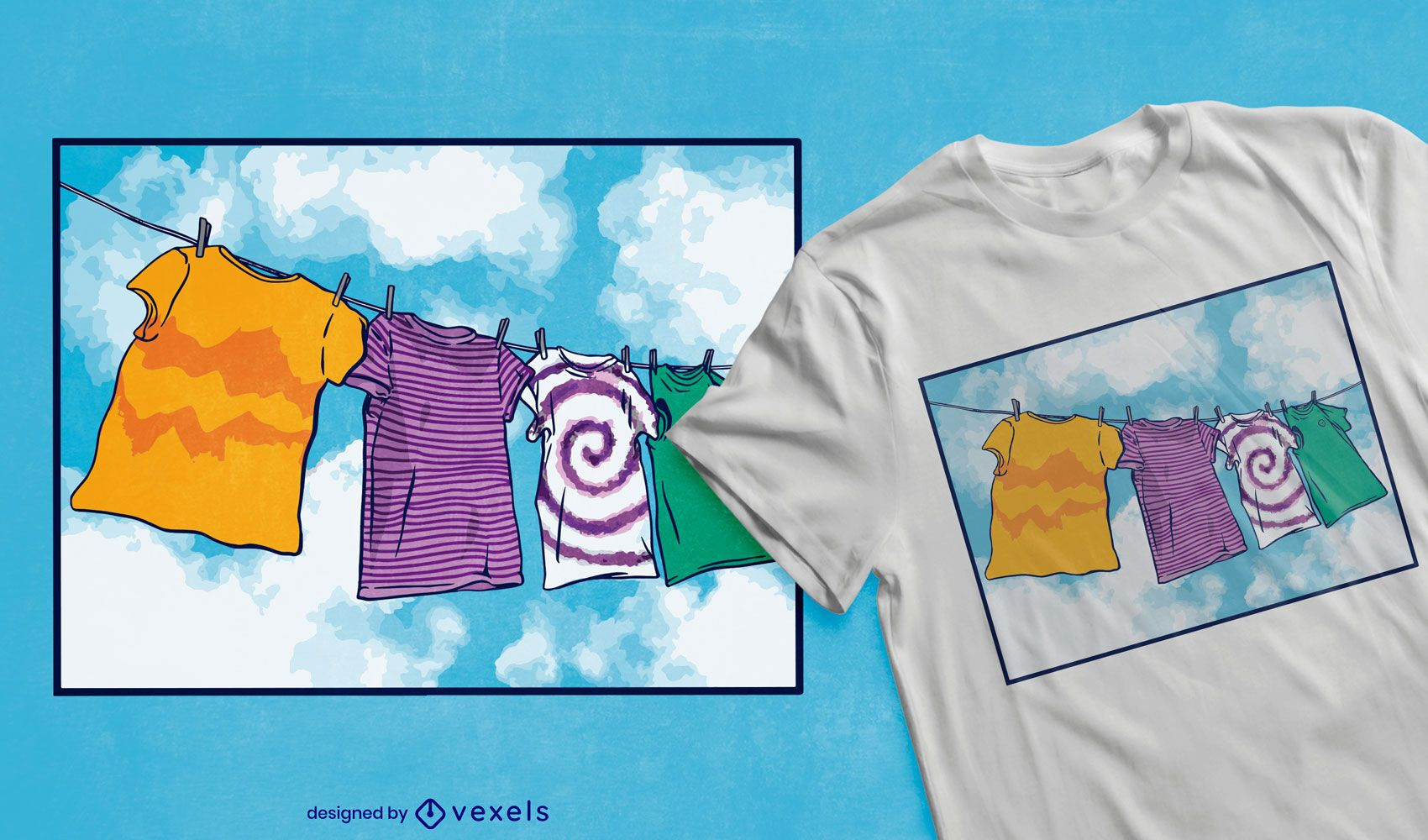 Dise?o de camiseta de l?nea de ropa.