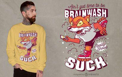 Diseño de camiseta con cita de lavado de cerebro