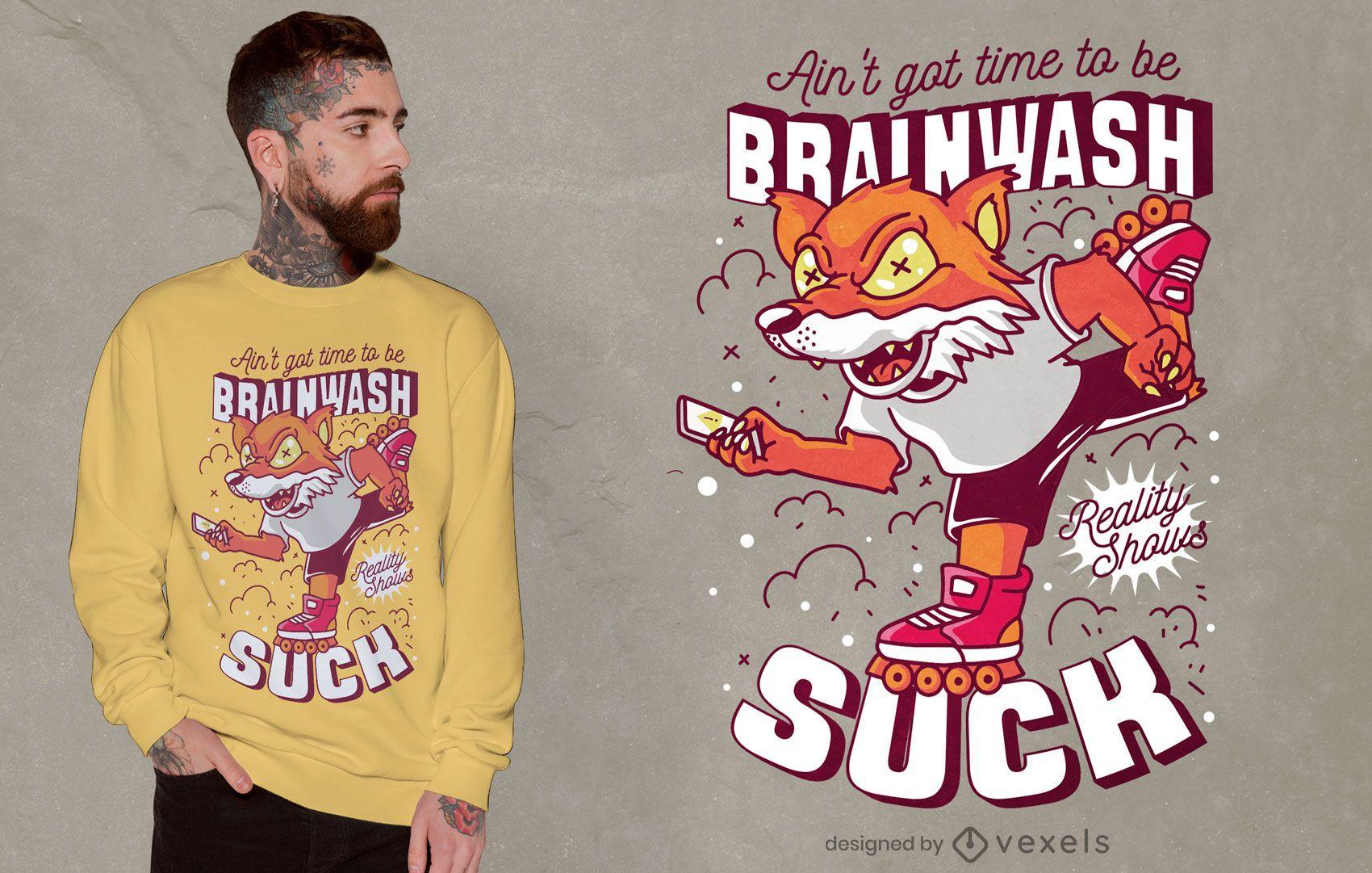 Design de t-shirt de citações para lavagem cerebral