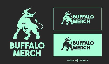 Design do logotipo Buffalo Merch