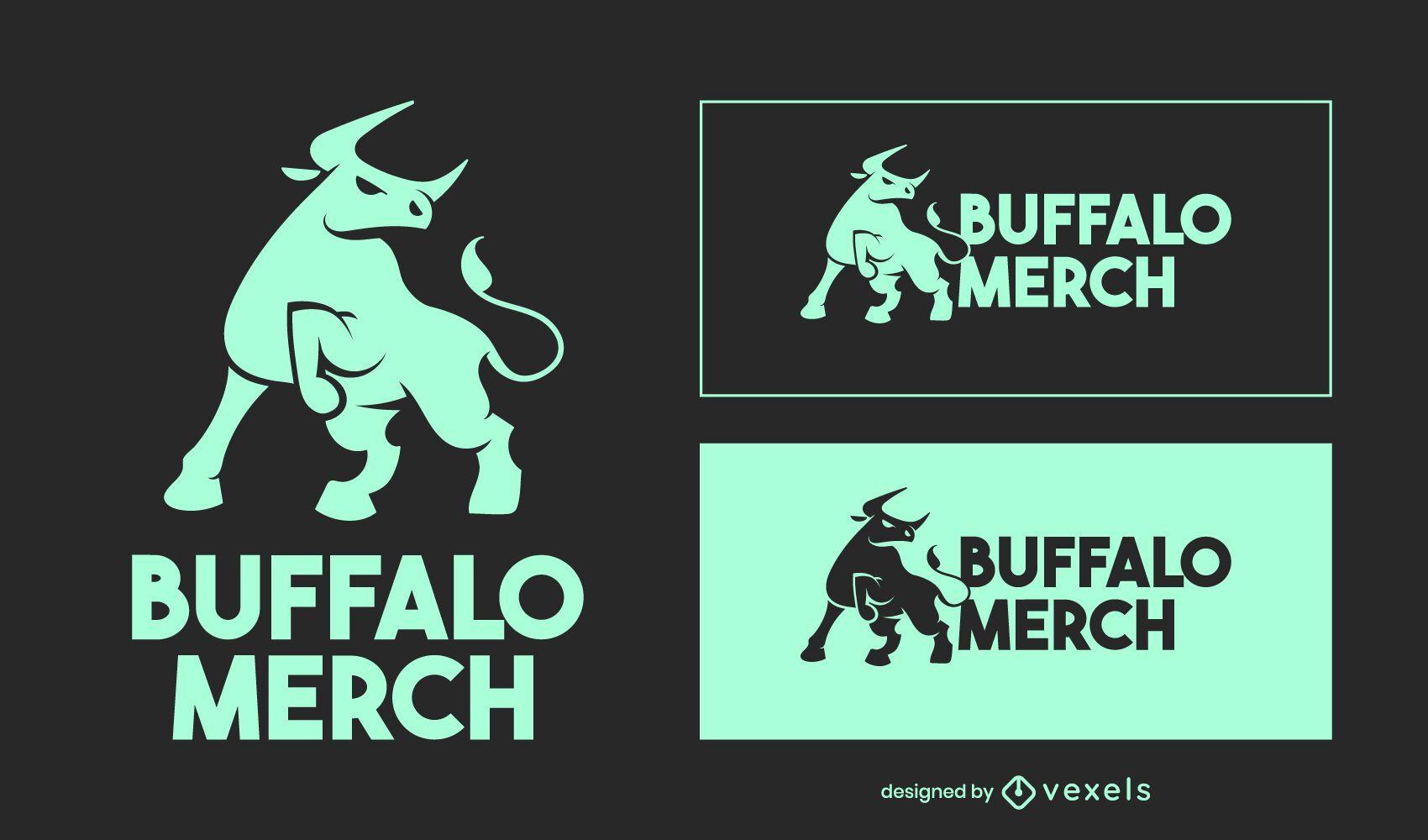 Design do logotipo Buffalo Merch