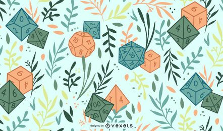 RPG polyhedral dice pattern design