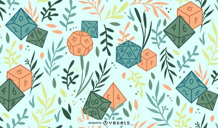 RPG polyhedral dice pattern design