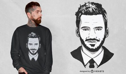 Man's face realistic portrait t-shirt design
