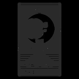 Tarot card the moon cut out