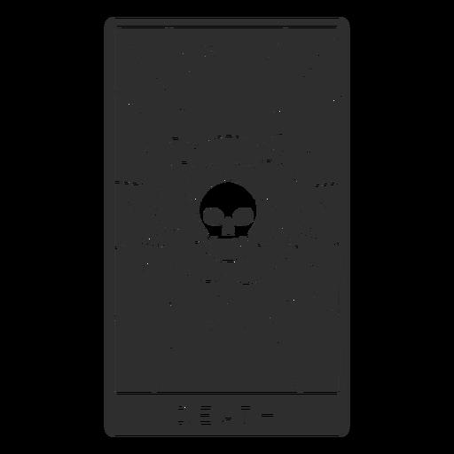 Tarot card death cut out