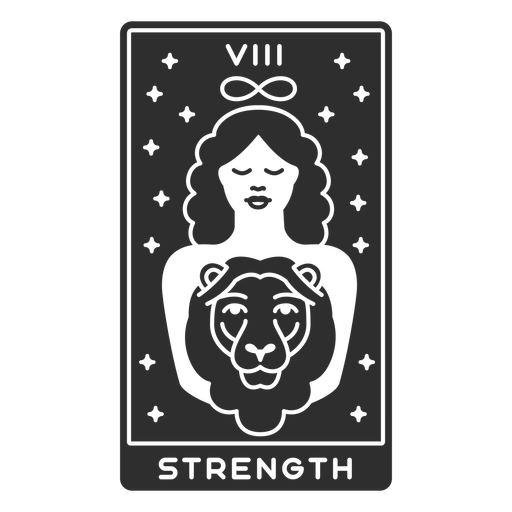 Tarot card strength cut out